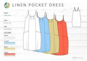 AnnaWiktoria Resort Retailing Pocket Dress