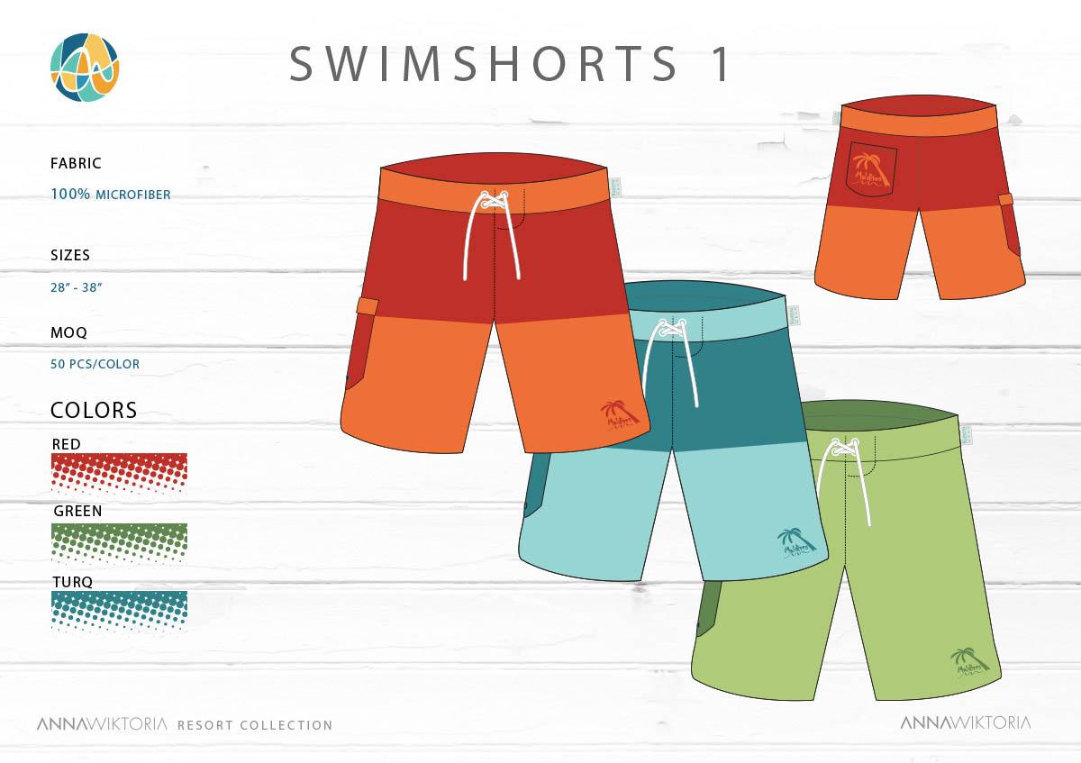 AnnaWiktoria Mens Swim shorts