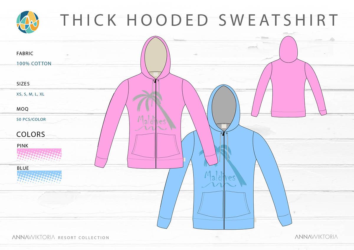AnnaWiktoria Thick Hooded Sweatshirt