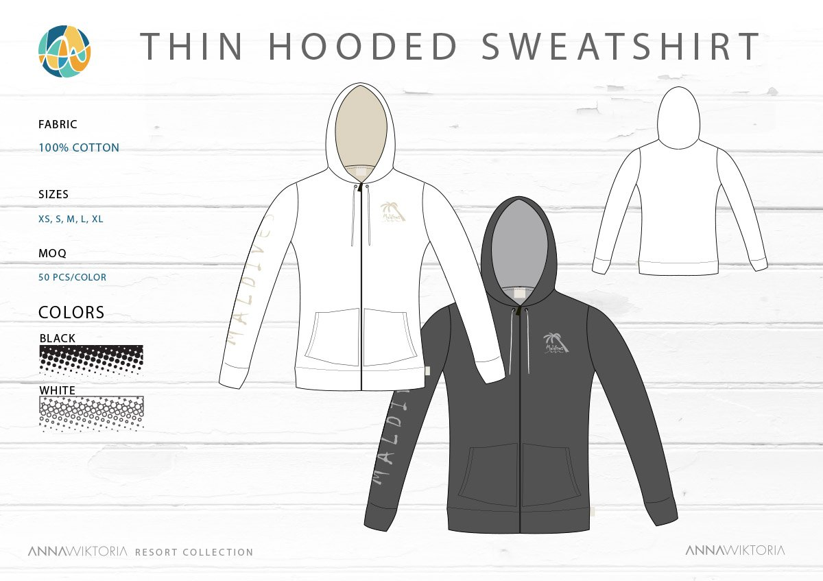 AnnaWiktoria Thin Hooded Sweatshirt