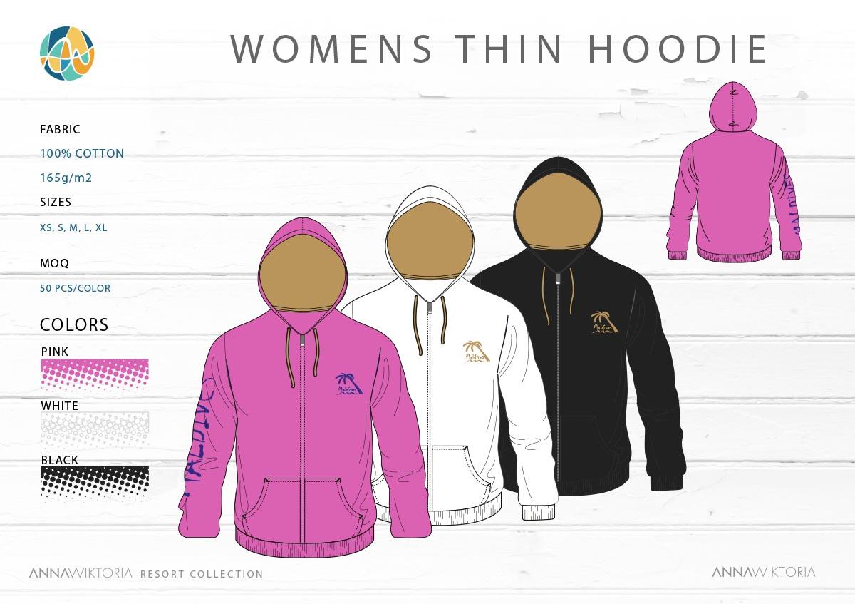 AnnaWiktoria-Womens Thin Hoodie