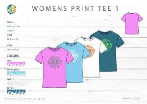 Anna Wiktoria Womens Print Tee