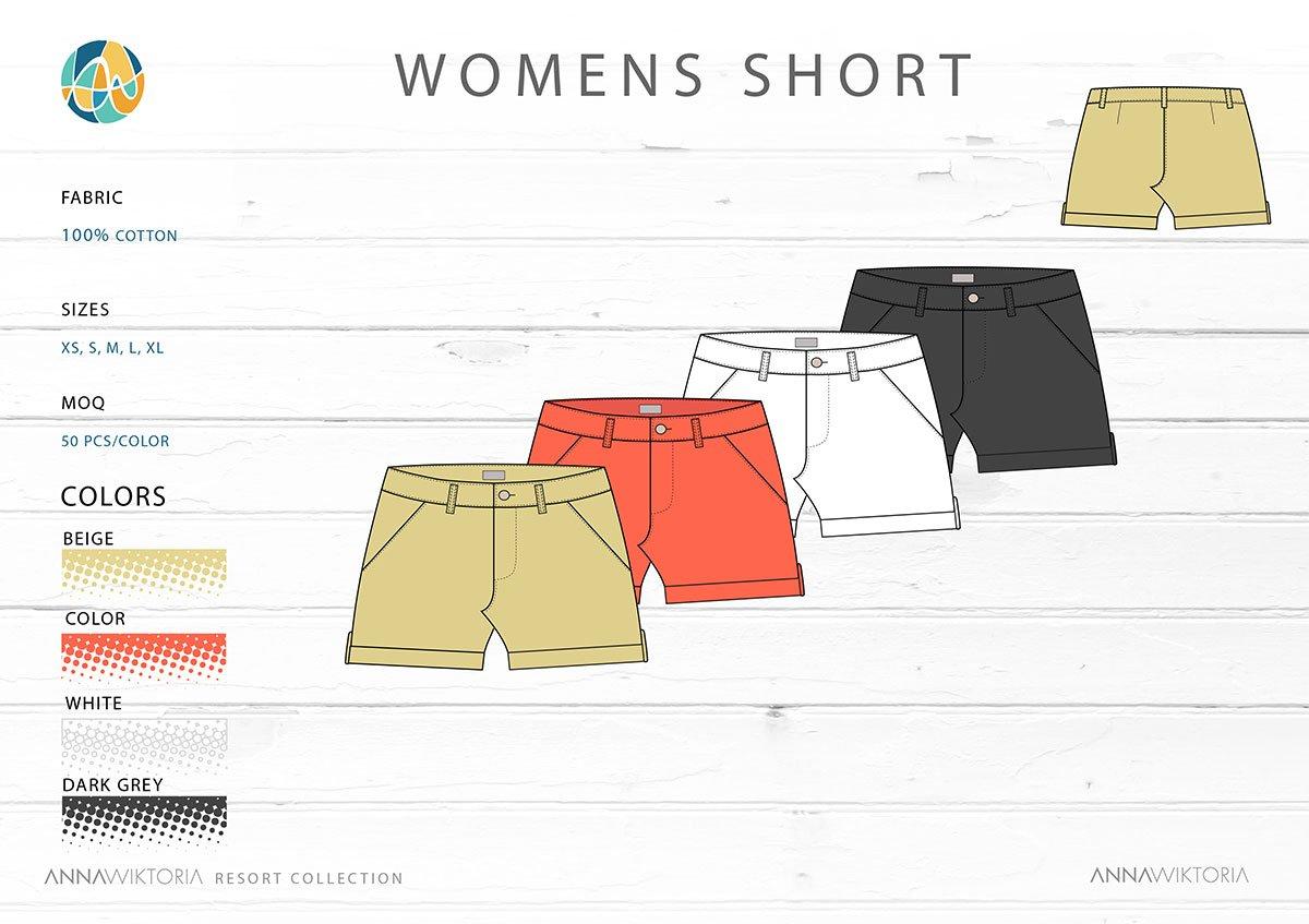Anna Wiktoria Womens Shorts